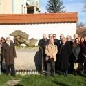 13 Conference members in the Garden of Haviva Reick