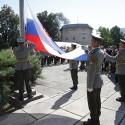 Čestná stráž OS SR pri vztyčovaní vlajky